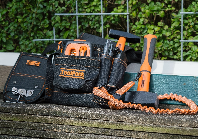 STOP THE DROP ! Tool pouch / hammer holder & lanyard set
