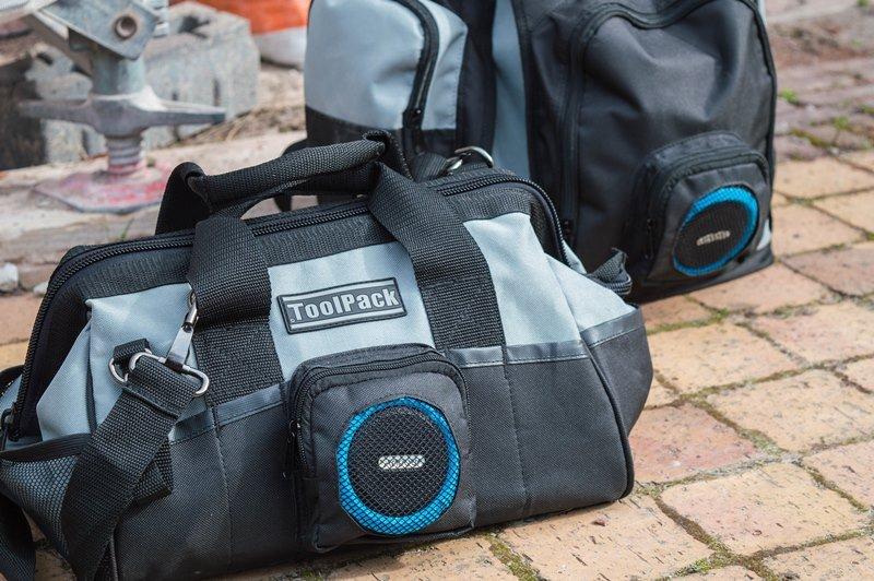 MUSIC IN EVERY JOB ! ToolPack Speaker tool bag & back-pack